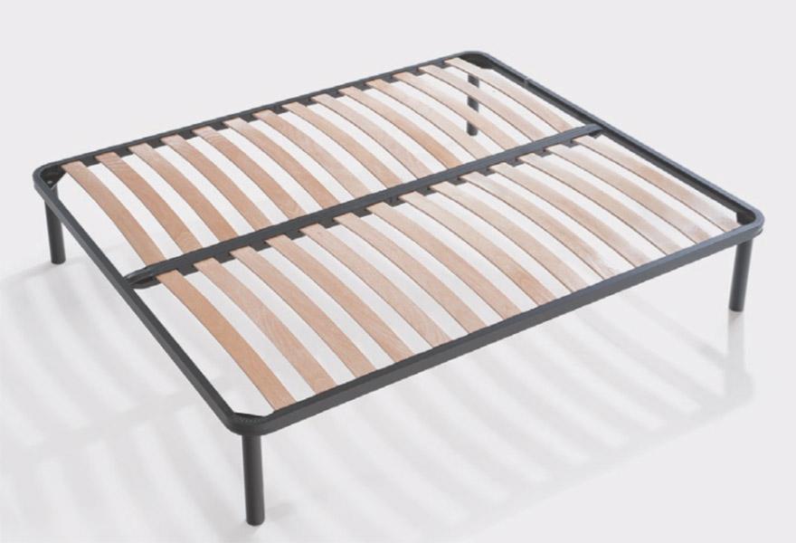 rete con doghe in faggio Creta è realizzata con attenzione ai minimi dettagli. È in grado di sostenere adeguatamente il materasso con le sue 14 doghe.