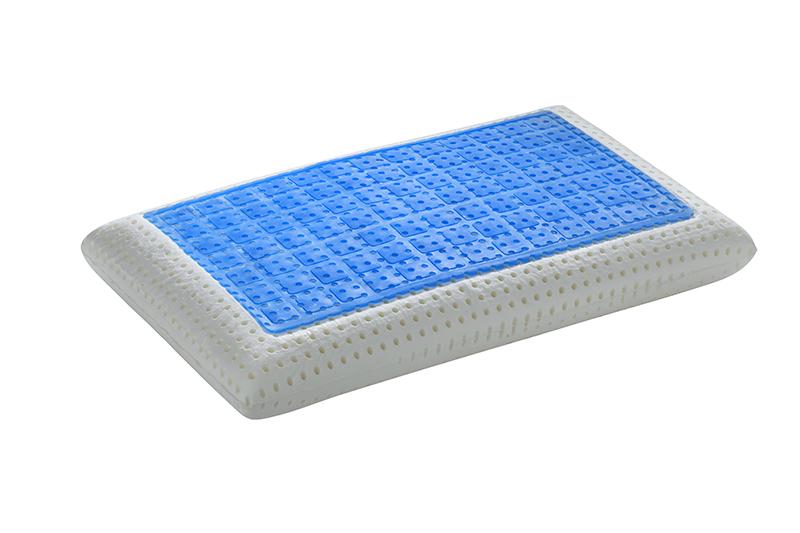 Guanciale memory fresh realizzato utilizzando SoftGel® per una piacevole sensazione di freschezza durante il riposo. Con federa Probiotic anallergica.
